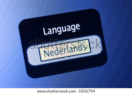 LCD display with the world Language and a selection of Dutch.