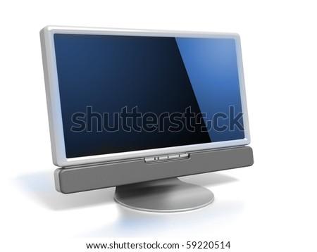 LCD monitor - stock photo