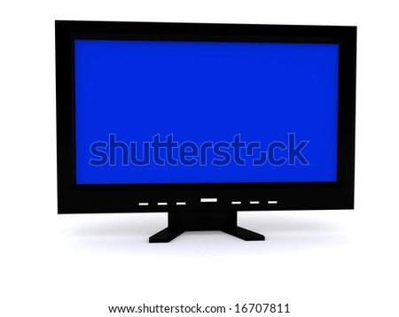 LCD monitor. 3D
