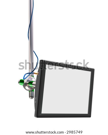 LCD screen (for your text) - stock photo