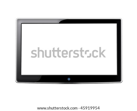 LCD screen TV with white background and place for your image - stock photo