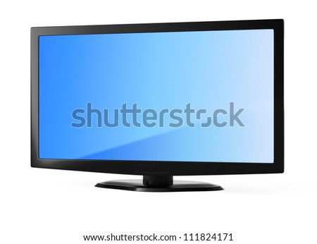LCD televisor isolated on white background. 3d render