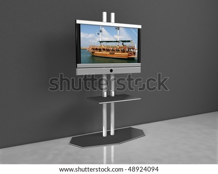 LCD TV - stock photo