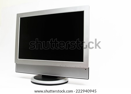 LCD TV isolated on white background