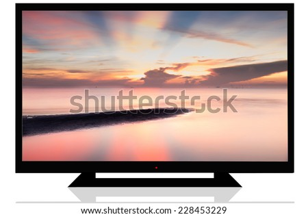 LCD TV / LED TV isolated - stock photo