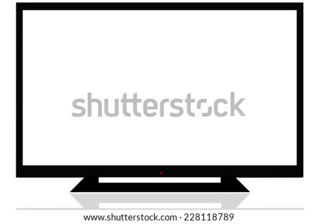 LCD TV on Isoled - stock photo