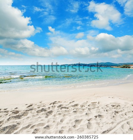 Le Bombarde beach on a cloudy day, Sardinia