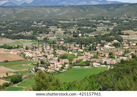 Le Castellet, France - april 20 2016 : the countryside seen from the castle