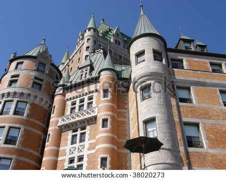 Le Château Frontenac in Quebec City, Canada - stock photo