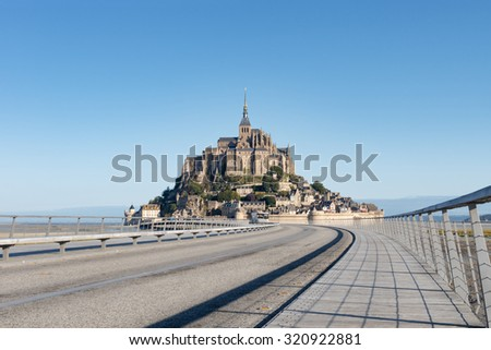 Le Mont Saint Michel, France, Normandy 2015 - stock photo