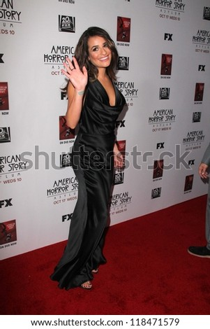 "Lea Michele at the Premiere Screening of FX's ""American Horror Story: Asylum,"" Paramount Theater, Hollywood, CA 10-13-12"