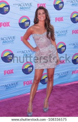 Lea Michele at the 2012 Teen Choice Awards Arrivals, Gibson Amphitheatre, Universal City, CA 07-22-12