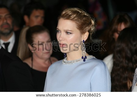 Lea Seydoux attends the 'Lobster' Premiere during the 68th annual Cannes Film Festival on May 15, 2015 in Cannes, France. - stock photo