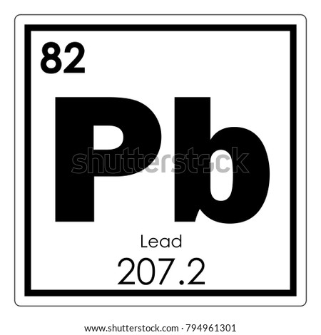 Lead Chemical Element Periodic Table Science Stock Illustration