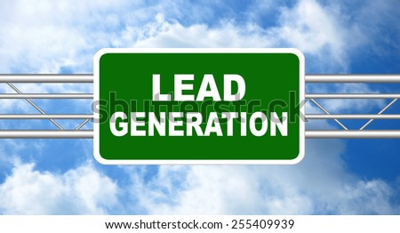 lead generation road sign - stock photo