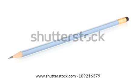 Lead pencil isolated on white