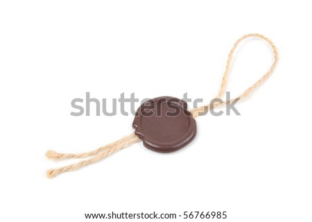 lead seal isolated on a white background - stock photo