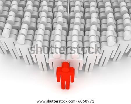 leader - stock photo