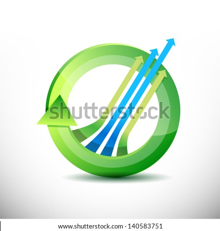 leader arrow 360 design concept illustration design over white - stock photo