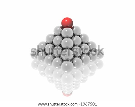 leader ball on top pyramid (see more in portfolio)
