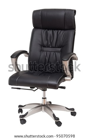leader chair isolated on white - stock photo