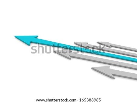 Leader. Concept. 3d illustration - stock photo
