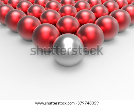 Leader concept with spheres