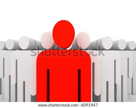leader figure - stock photo