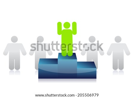 leader from the group illustration design over a white background