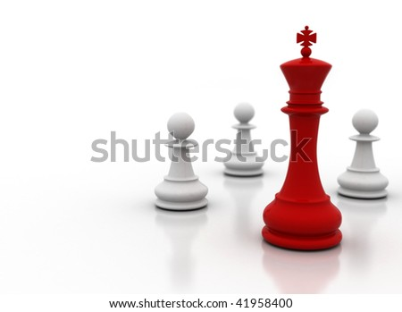 Leader - leadership illustration on white background - stock photo
