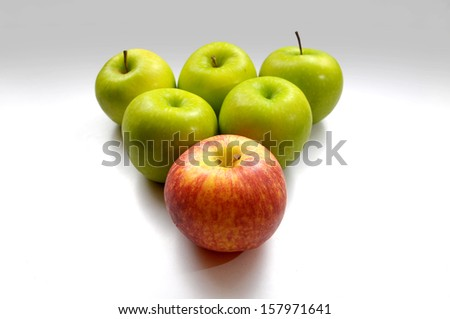 leader of apple team - stock photo