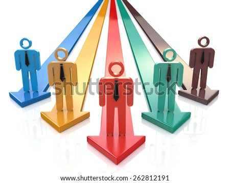 Leader of competition. Business competition. Concept. 3d illustration  - stock photo
