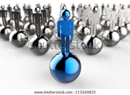 Leader of competition. Concept. 3d illustration - stock photo