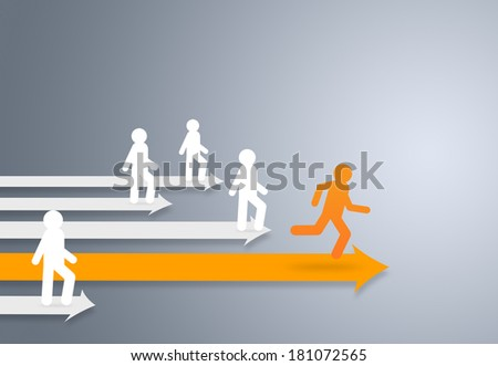Leader of competition, Leadership Concept - stock photo