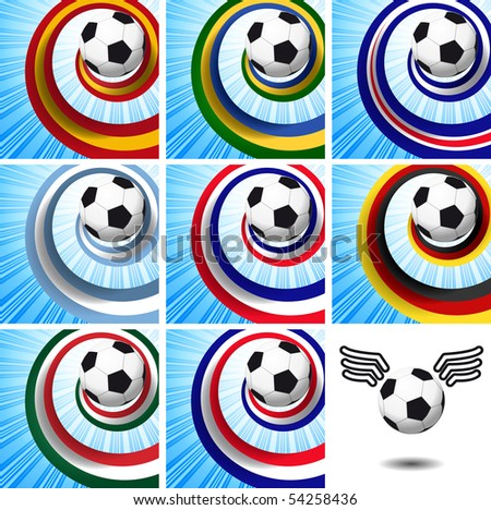 Leader of the set - soccer design elements. - stock photo