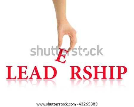 Leadership abstract - stock photo