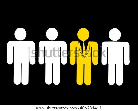 Leadership and be different concept - stock photo