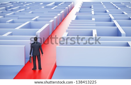 LEADERSHIP AND BUSINESS VISION - stock photo