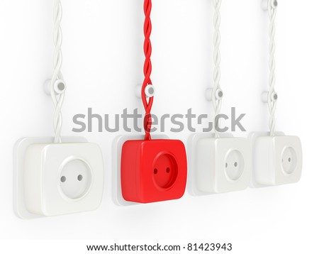 leadership and sampling concept. 3d illustration on a white background - stock photo
