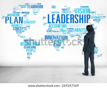 Leadership Boss Management Coach Chief Global Concept - stock photo