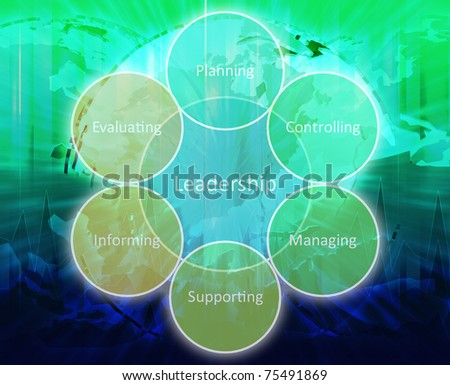 Leadership business diagram management strategy concept chart illustration - stock photo