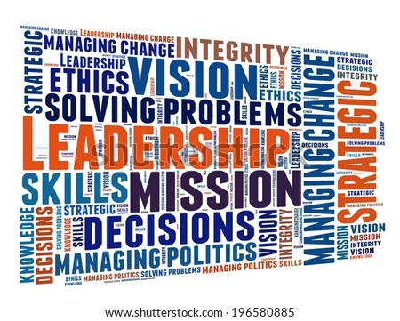 Leadership Competencies in word collage