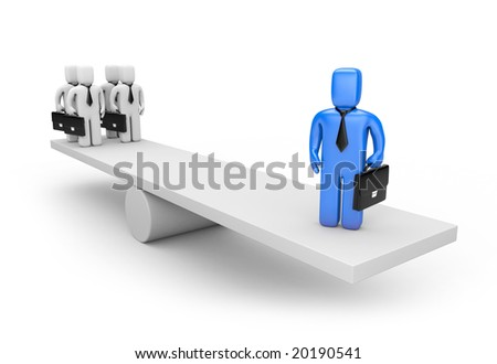 Leadership concept. Business metaphor - stock photo