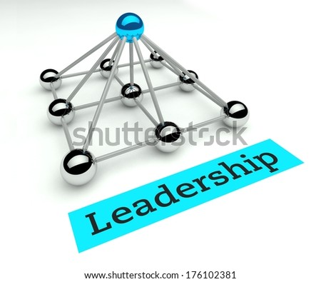 Leadership concept, Hierarchy and management with pyramid - stock photo