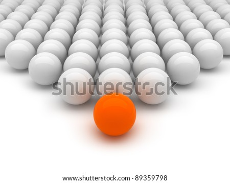 Leadership concept illustration - stock photo