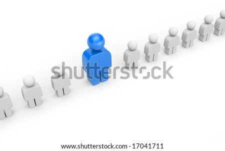 Leadership concept isolated on white - stock photo