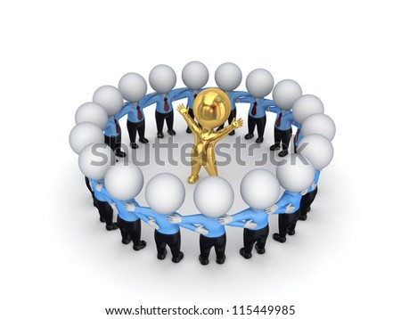 Leadership concept.Isolated on white background.3d rendered. - stock photo