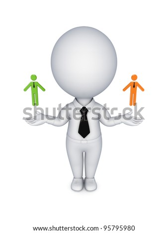 Leadership concept.Isolated on white background. 3d rendered. - stock photo