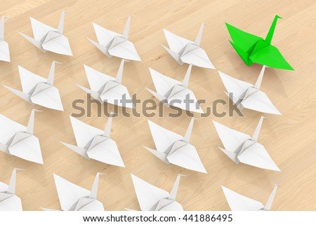 Leadership concept. Isolated on wooden background. 3d render. - stock photo