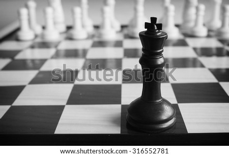 Leadership concept of chess